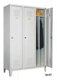 Метален гардероб Sum 431 трикрилен