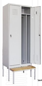 Метален гардероб Sum 420 + пейка Pw421