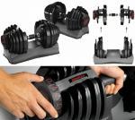 Дъмбел по дизайн на Bowflex 5 - 55,2  паунда (2.5 - 25кг)