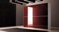 гардероб LUX с червено стъкло