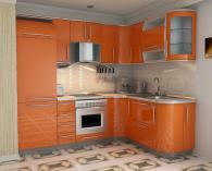 Кухня Пастел Обла Оранж гланц