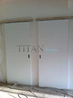 Пързалящи интериорни врати със скрита релса по заявка на клиента