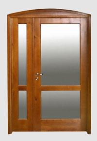 Масивна остъклена входна врата
