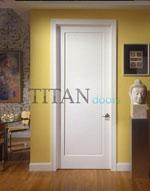 Модел на вътрешна врата, лакирана в бяло, с фрезован правоъгълник