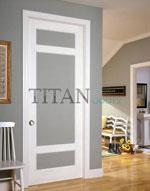 Остъкление за вътрешна врата за кабинет, лакирана в бял цвят