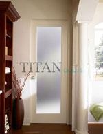 Интериорна врата с матово остъкление
