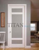 Остъклена боядисана интериорна врата