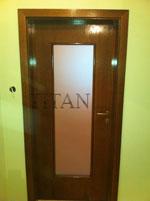 Интериорна остъклена врата по поръчка, лакирана по каталог