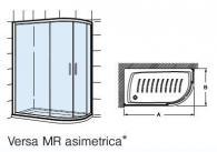 Параван за асиметрично душ корито