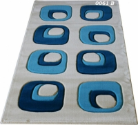 Машинни килими с десен в синьо 100х200см