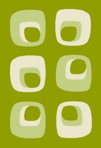 Правоъгълен килим в зелено 66х100см