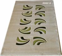 Машинни килими с десен в зелено 80х150см