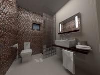 Витраж за стена на баня