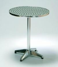 Алуминиева маса,кръгъл плот,кръстачка с чугун