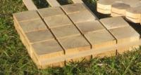 Дървени настилки в квадратна и овална форма