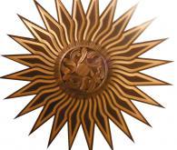 Дърворезба на таван Слънце
