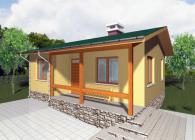 Едноетажна сглобяема къща 60 м2