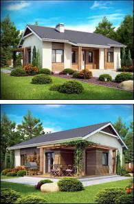 Сглобяеми дървени къщи 77 м2