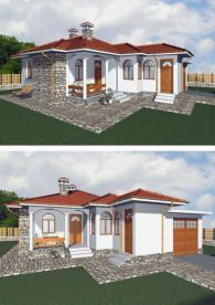 Луксозна едноетажна къща 90 м2