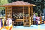 Изработка на дървени беседки за детски площадки по поръчка