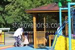 Беседка от дърво за детска площадка
