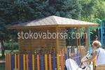 Производство на дървени беседки за детски площадки