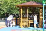 Изграждане на дървена беседка за детска площадка