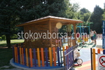 Дървени беседки за детски площадки по поръчка