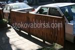 средно високи дървени огради