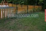 ниски дървени огради