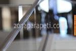 стълбищен парапет от инокс и стъкло по поръчка