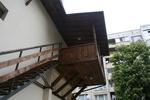 изграждане на стълбище от дърво и метал