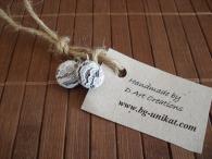 Авторски ръчно изработени обеци White Lace