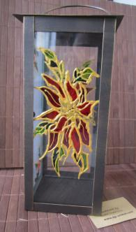 Ръчно рисуван коледен фенер