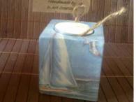 Бамбуков свещник, декориран с техника декупаж SEA