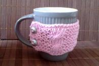 Чаша за кафе с пуловер SWEET PINK N GREY