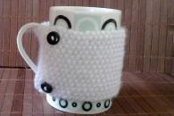 Чаша за чай с пуловер COZY  WHITE