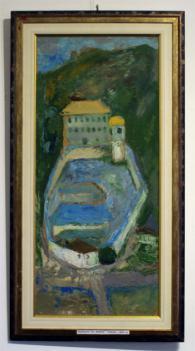 Картина на Динко Ненов - Църквата Св.Неделя-Смолян