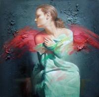 Живописна авторска картина Ангел