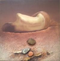 Авторска живописна картина Смирени брегове 2
