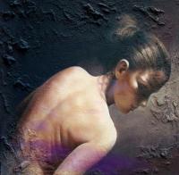 Авторска живописна картина Цветни ангели 4