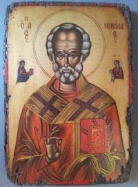 Авторска икона от дърво Св.Никола