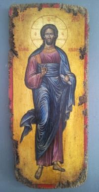 Авторска икона от дърво Исус Христос