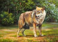 Картина с изображението на вълк