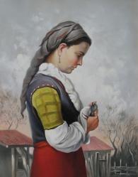 Картина с изображението на жена