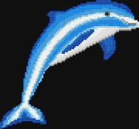 Мозайка за облицоване на стена - Делфин